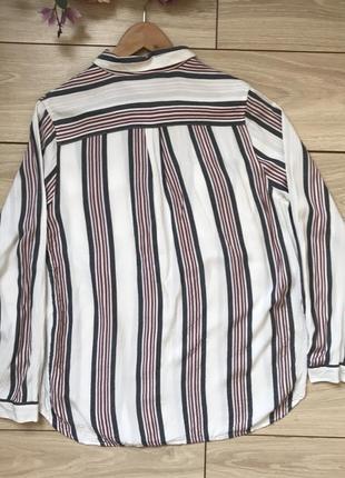 Рубашка из вискозы в полоску с разрезами размер 162 фото