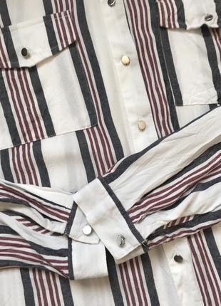 Рубашка из вискозы в полоску с разрезами размер 165 фото