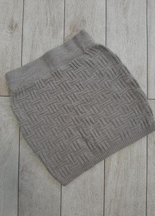 Вязаная тёплая юбка
