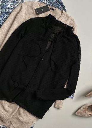 Стильная рубашка с завязками на шее zebra