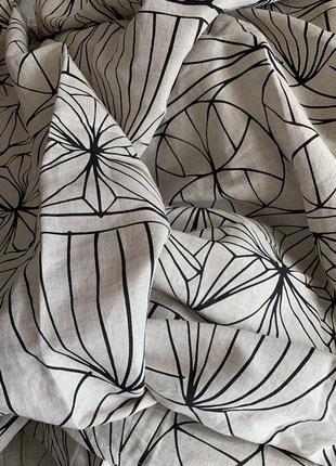 Штора новая ikea лён , шторы, занавеска льняные, льняная в орнамент