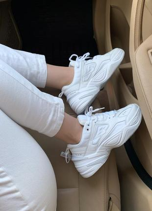Nike m2k white шикарные женские кроссовки найк белые