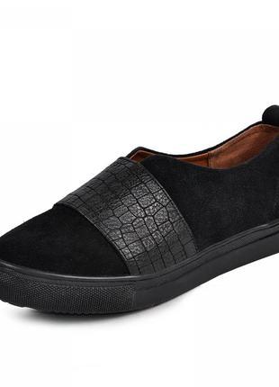 Замшеві туфлі сліпони, всередині шкіра. 32-41р.
