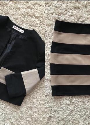 Эффектный костюм пиджак и юбка
