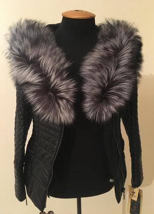Новая кожаная курточка, на меху. распродажа