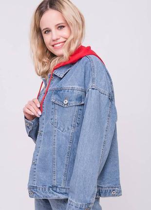 Джинсовая курточка принт
