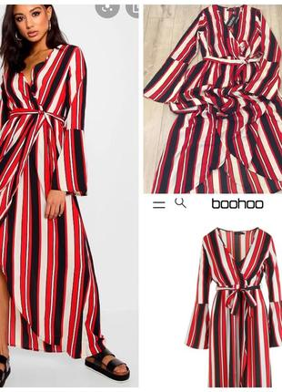 Красивое платье в халатном стиле boohoo
