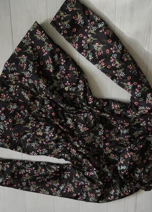 Куртка ветровка удлинённая цветы цветастая от peacocks