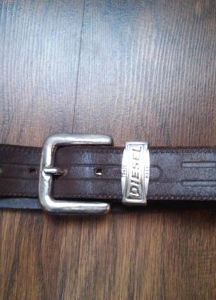 Оригинальный кожаный ремень унисекс diesel с тиснением и шикарной пряжкой