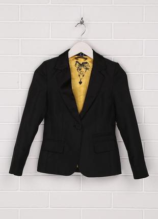 Пиджак , черный, классический, на девочку, 146, 152