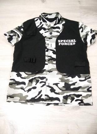 Карнавальный костюм спецназ. армейская рубашка.