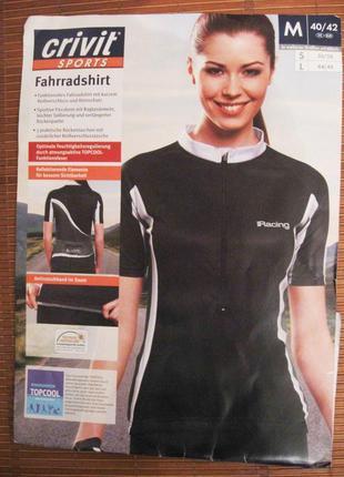 Новая велофутболка (m/40/42) crivit sports racer велофутболка джерси женская