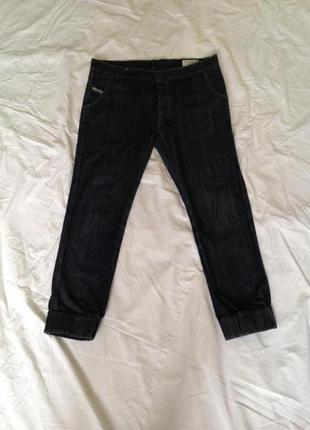 Италия женские джинсы diesel на пуговицах и низ широкая резинка-манжет