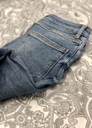 Скинни джинсы zara с высокой посадкой