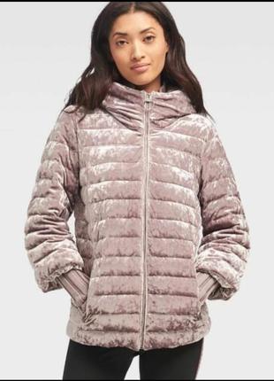 Стильная велюровая бархатная куртка dkny