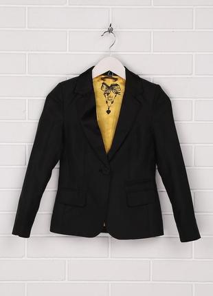 Пиджак , черный, классический, на девочку, lckr, 146, 152