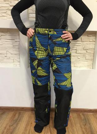 Лыжные штаны полукомбинезон cfl(франция) рост 164-xs в идеале унисекс