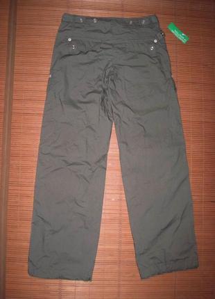 Benetton (xs) штаны треккинговые женские натуральные новые