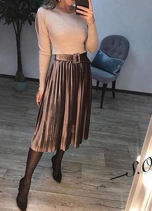 Бархатна юбка