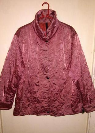 """Демисезонная,стёганная куртка в """"розы"""",на синтепоне,большого размера,steilmann"""