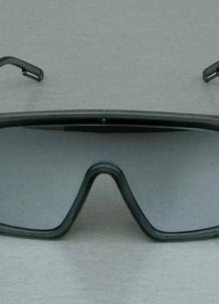 Calvin klein очки маска женские солнцезащитные зеркальные в серой прозрачной оправе2 фото