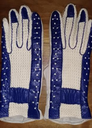 Кожаные перчатки, винтаж