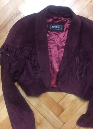 Укорочённая курточка з баской