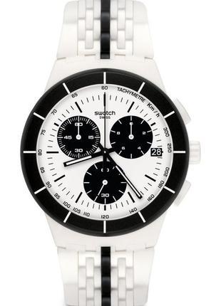 Часы наручные мужские женские юнисекс swatch piste noire susw407
