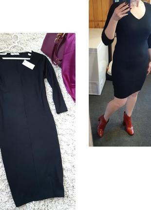 Базовое силуэтное чёрное платье, sparkz, p. m