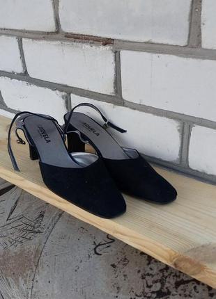 """Акция """"встречай весну """"кожаные туфли лодочки с открытой пяткой"""