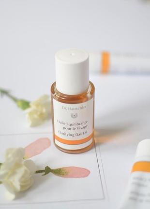 Масло для лица для жирной кожи dr. hauschka clarifying day oil