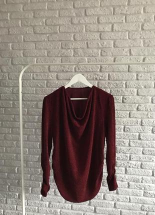 Нарядна вінтажна блуза з люрексовою ниткою ✨💔