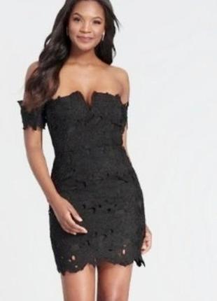 Сексуальное мини платье с кружевной вышивкой
