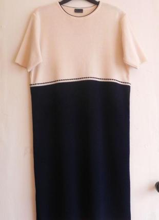 Шерстяное платье прямого  кроя (можно от 42р.-48р. см.замеры)3