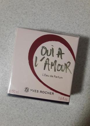 Парфюмированная вода oui a l'amour 50 мл yves rocher