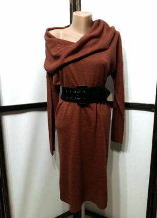 Свитер-платье туника платье-гольф удлиненный свитер бренд e-vie