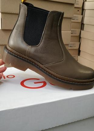 Ботинки кожаные на байке fabio gutti