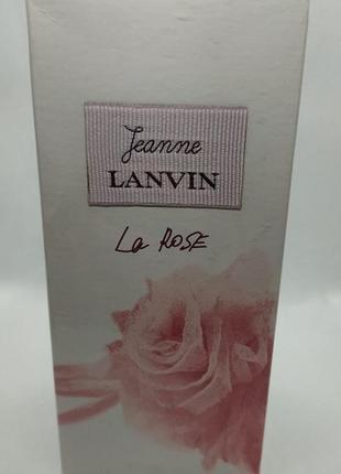 Lanvin jeanne la rose парфюмированная вода 100 мл франция оригинал