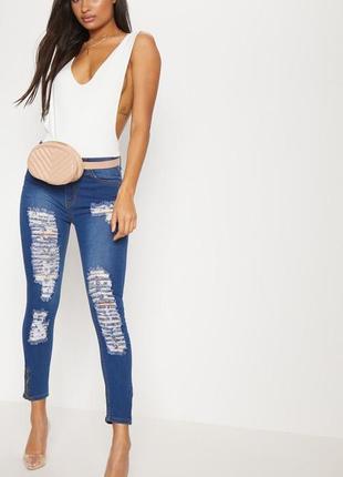 Очень крутые джинсы asos с потёртостями prettylittlething, zara, peace&love, boohoo,