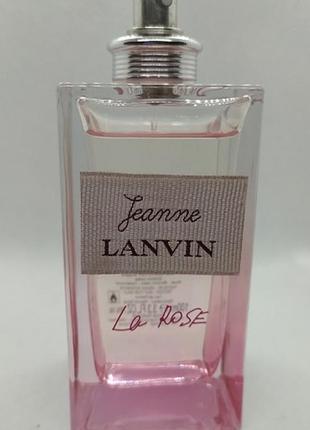 Lanvin jeanne la rose парфюмированная вода тестер 100 мл франция оригинал