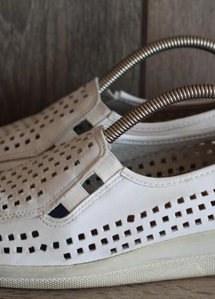 Шикарные кожаные летние туфли ganter