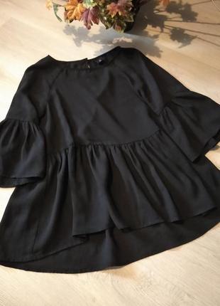 Брендовая блузка черная