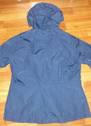 Синяя куртка плащ ветровка3