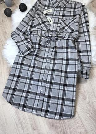 Сукня/рубашка в клітину3 фото