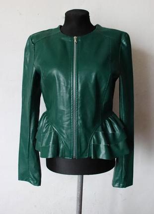 Куртка с баской эко-кожа much money италия