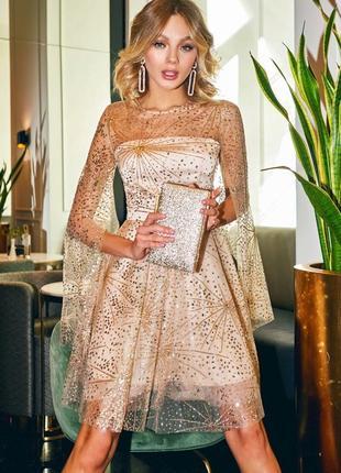 Нарядное платье с блёстками gepur