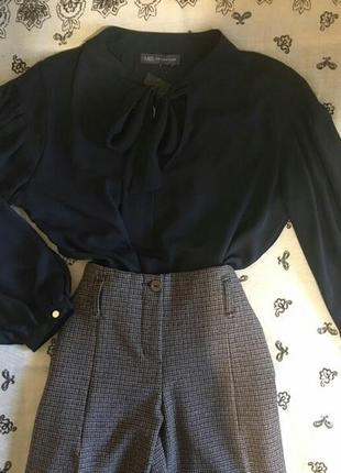 Блуза блузка рубашка с завязкой бантом и пышными рукавами. сток.