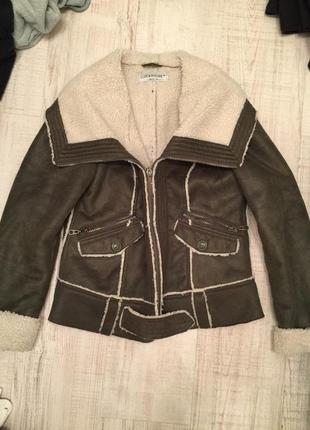 Куртка дубленка цвета закки