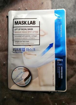 Лифтинговая маска для лица the face shop mask lab lift up face mask бандаж для шеи
