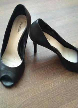 Туфли baldinini босоножки туфли с открытым носком кожа
